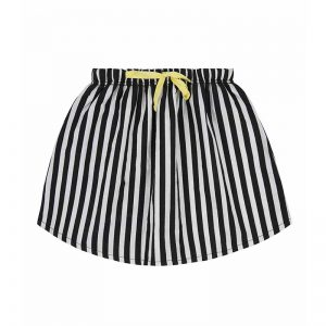 Turtledove London Striped Skirt Monochrome Available at Cocoon Child UK