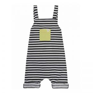 Black and White Striped Kids Dungarees from Turtledove London atCocoon child