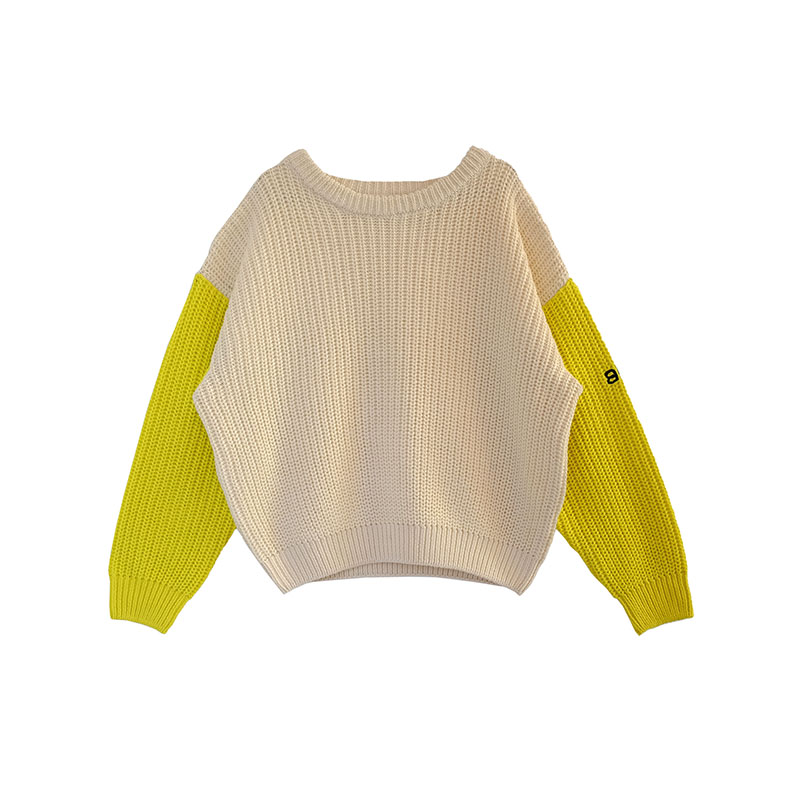 Bandy Button AW17 cocoon child sweater boutique WOLFI YELLOW