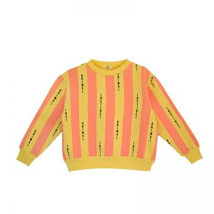Bandy Button AW17 cocoonchild _ANIMAL sweater pink yellow stripe