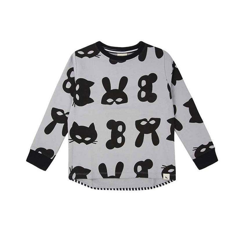 Turtledove cocoon child animal print sweater