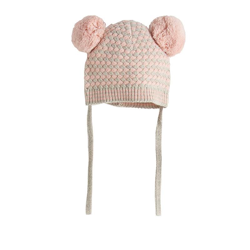 Bonnie Mob pink pom pom hat
