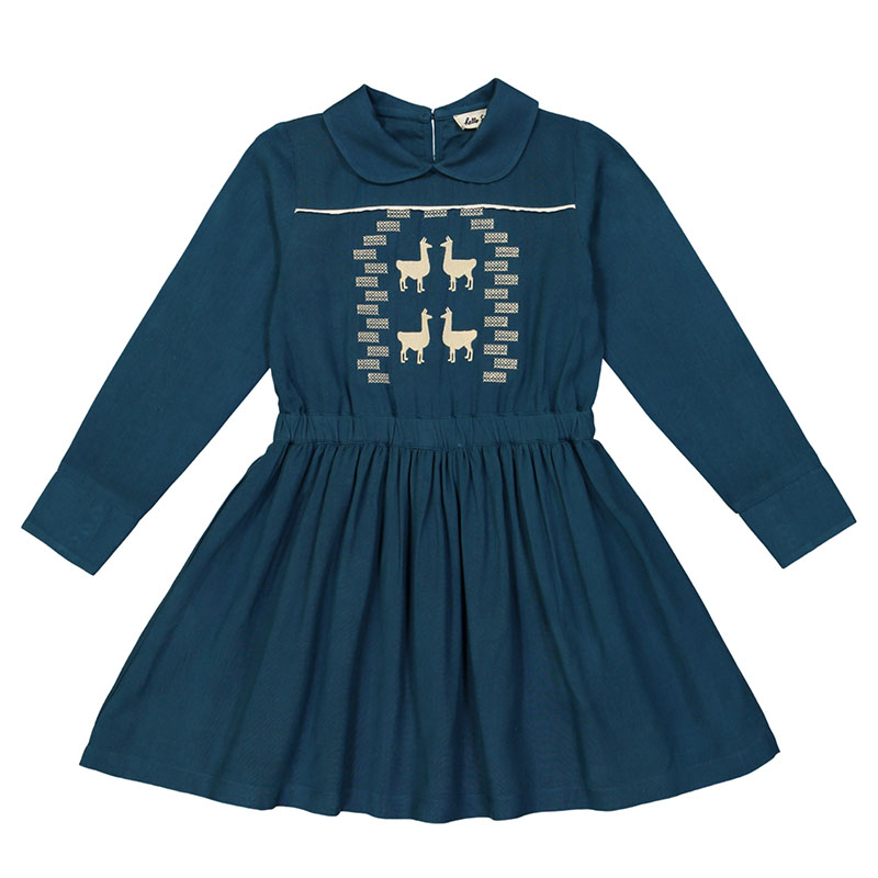 Hello Simone Cocoon Child_0011_Olympia Dress embro ink blue