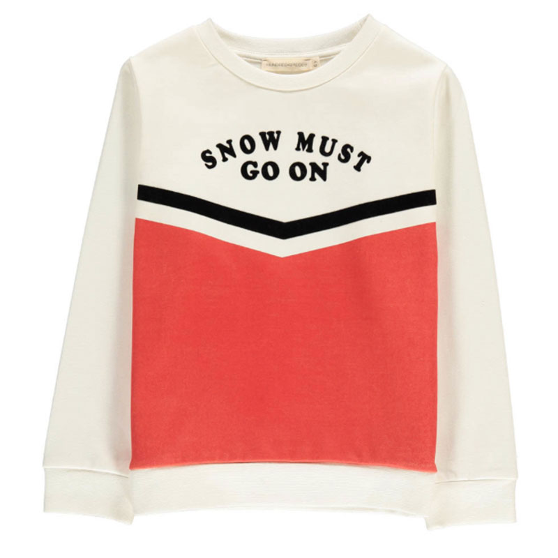 hundred pieces white sweater snow must go on