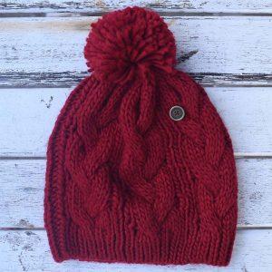 fallen broken street RED hat