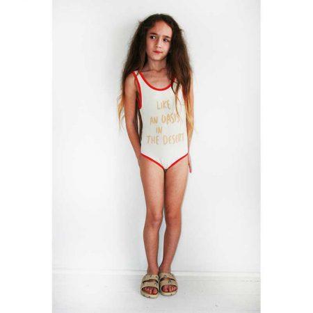 Bandy Button desert baby swimsuit