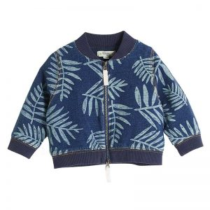 Bonnie Mob bomber cardigan palm print