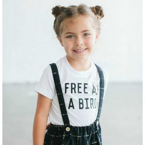 free as a bird the Bee and the Fox kids t shirt cocoon child uk stockist