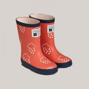 coral kids wellies grass and air