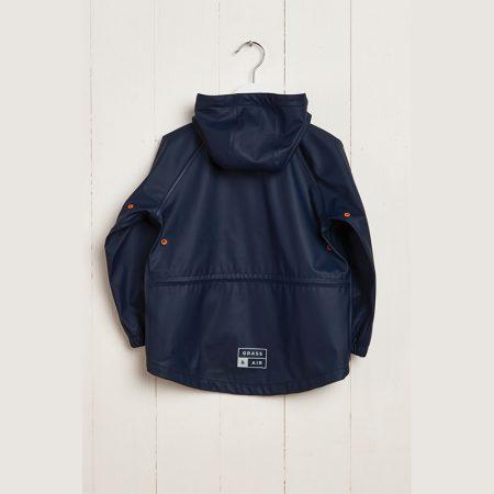 navy rain coat