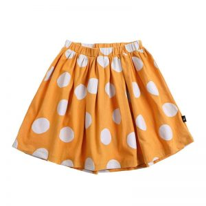 Anarkid | Kids Mustard and White Spot Print Skirt - Available at Cocoon Child