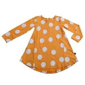 Anarkid | Kids Mustard and White Spot Dress - Available at Cocoon Child