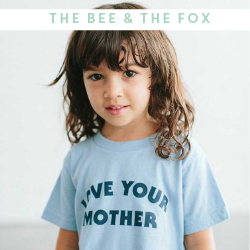 The Bee and The Fox Kids T-shirts - Available at Cocoon Child