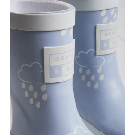 Kids Wellies in Baby Blue from Grass & Air at Cocoon Child