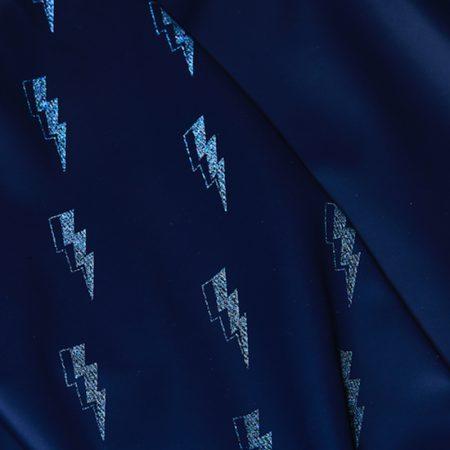 Grass & Air - Navy, Lightning Print Kids Rain Coat at Cocoon Child